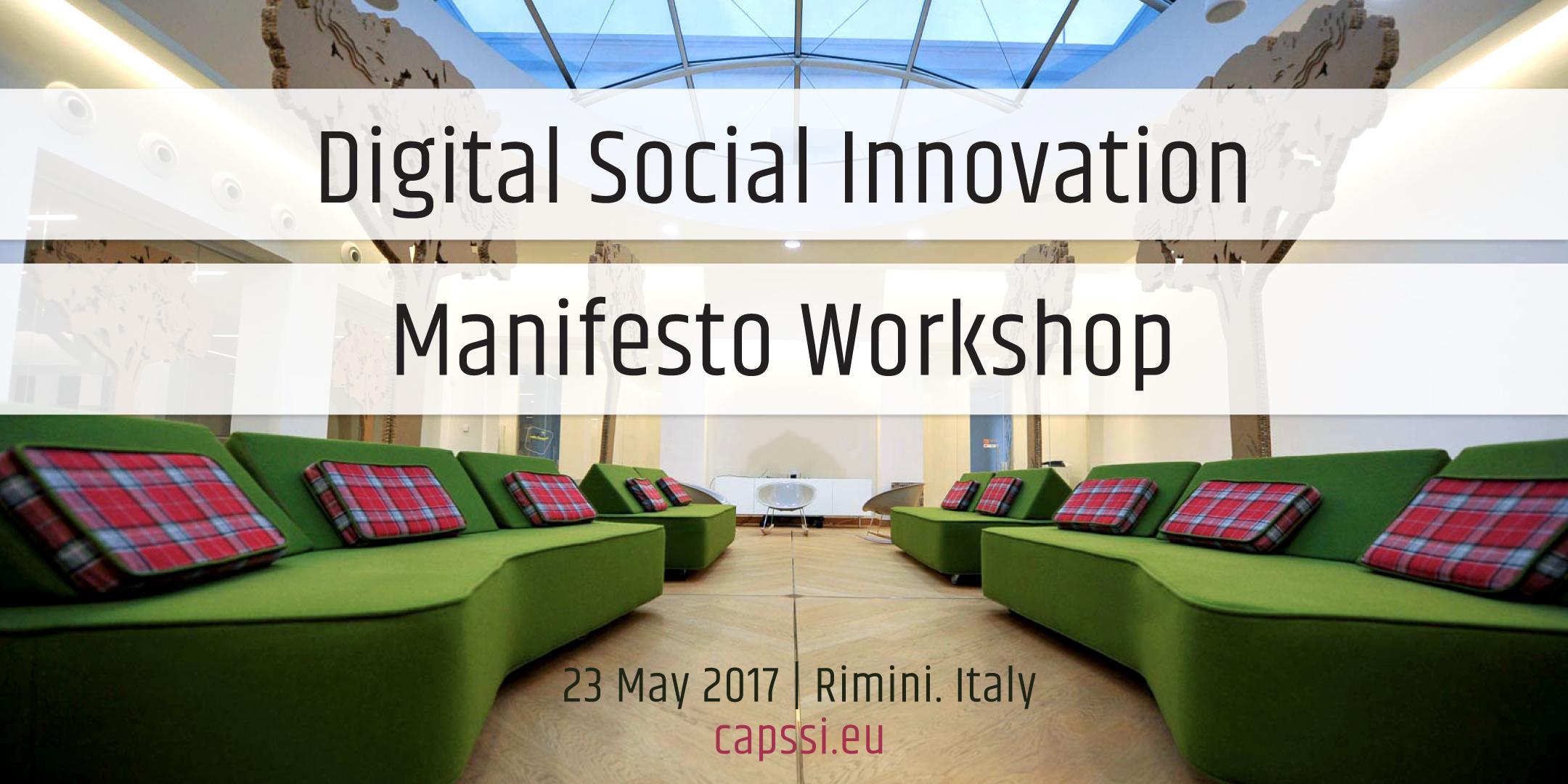 Digital Social Innovation Manifesto Workshop